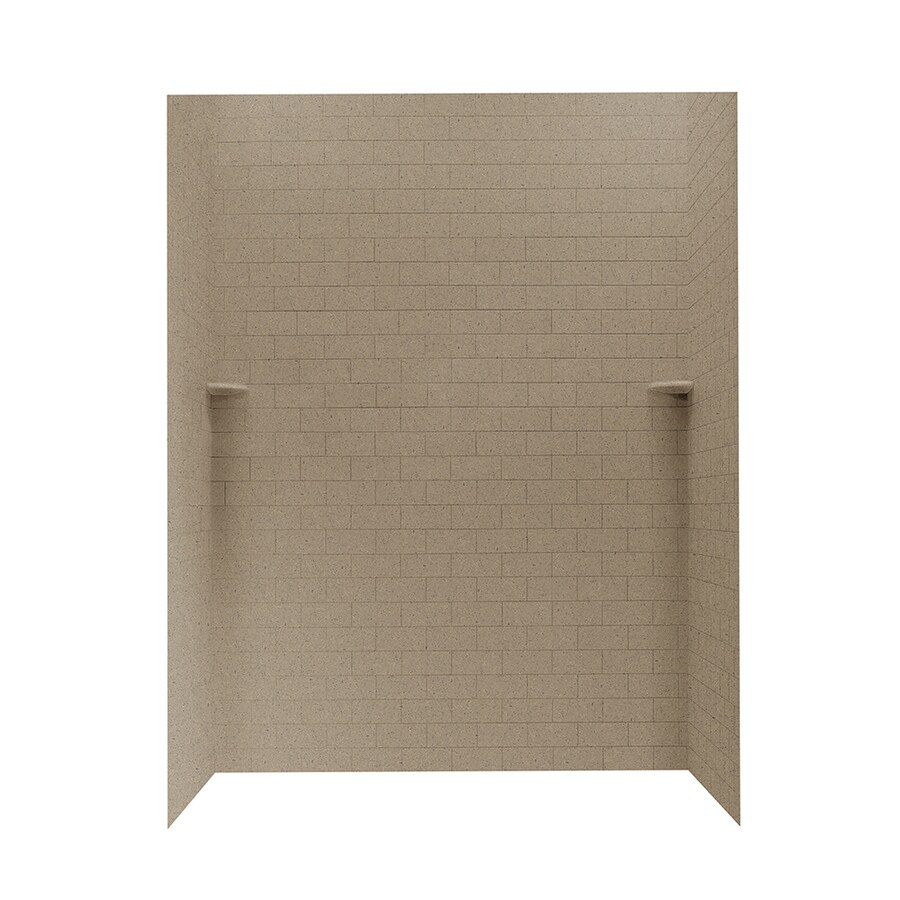 Solid Surface Wall Cladding : Shop swanstone barley solid surface shower wall surround