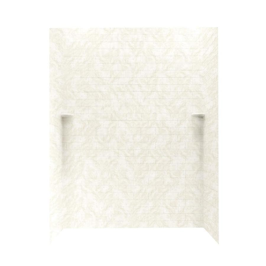 Swanstone Cloud White Shower Wall Surround Side and Back Panels (Common: 62-in; Actual: 72.5-in x 62-in)