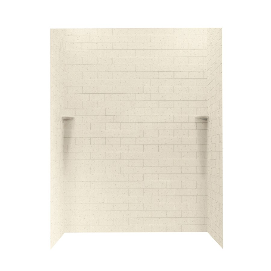 Swanstone Caraway Seed Shower Wall Surround Side and Back Panels (Common: 62-in; Actual: 72.5-in x 62-in)