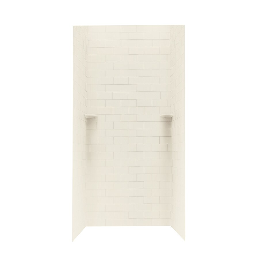 Swanstone Bone Shower Wall Surround Side and Back Panels (Common: 36-in; Actual: 72.5-in x 36-in)