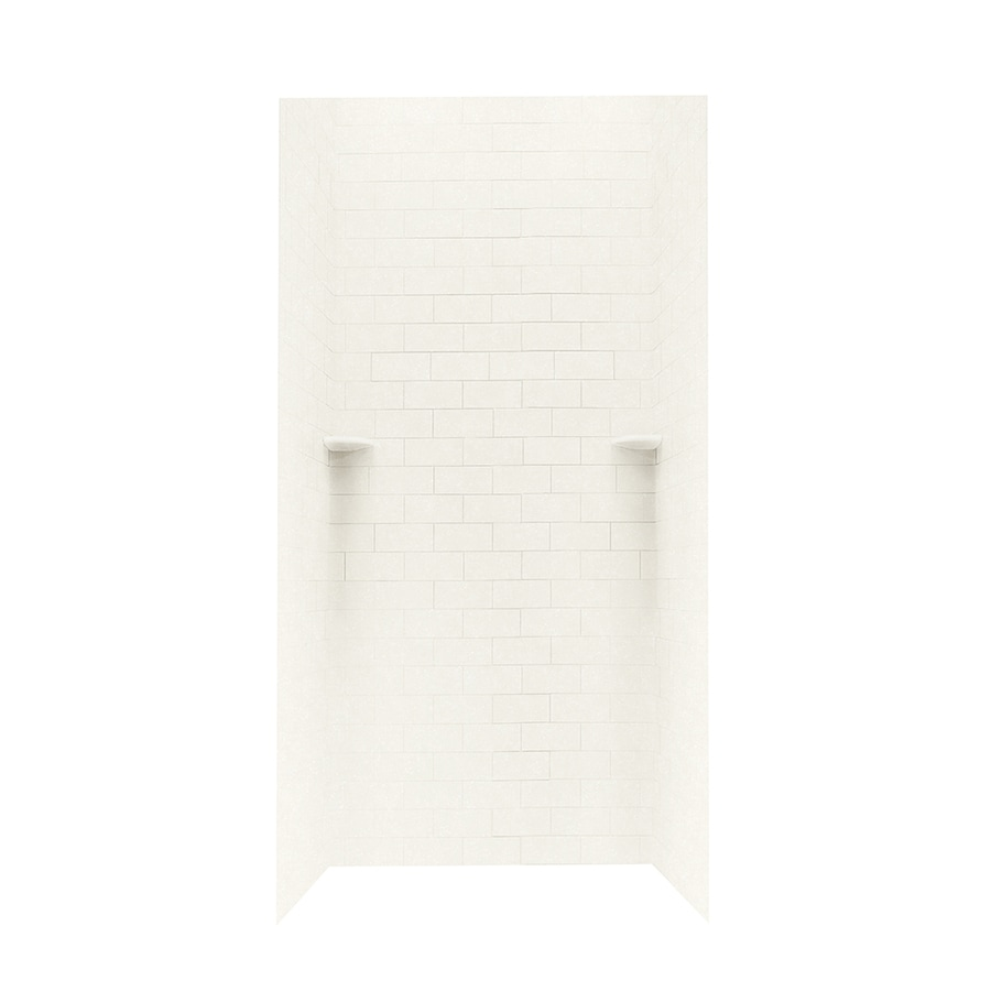 Swanstone Tahiti Ivory Shower Wall Surround Side and Back Panels (Common: 36-in; Actual: 72.5-in x 36-in)