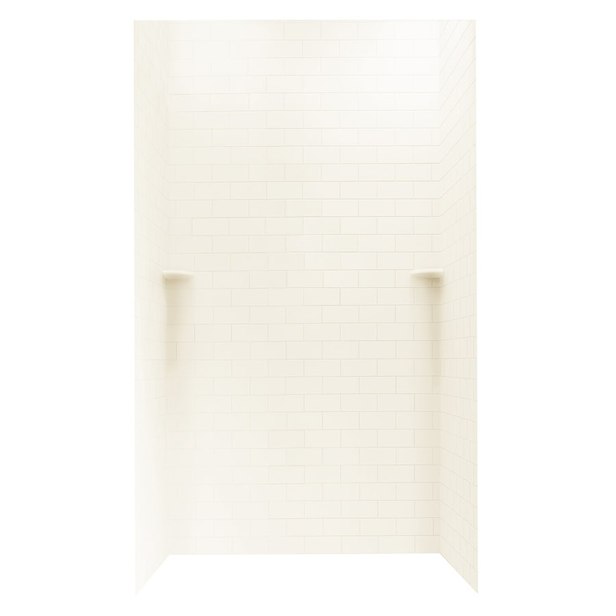 Swanstone White Shower Wall Surround Side and Back Panels (Common: 48-in; Actual: 96-in x 48-in)