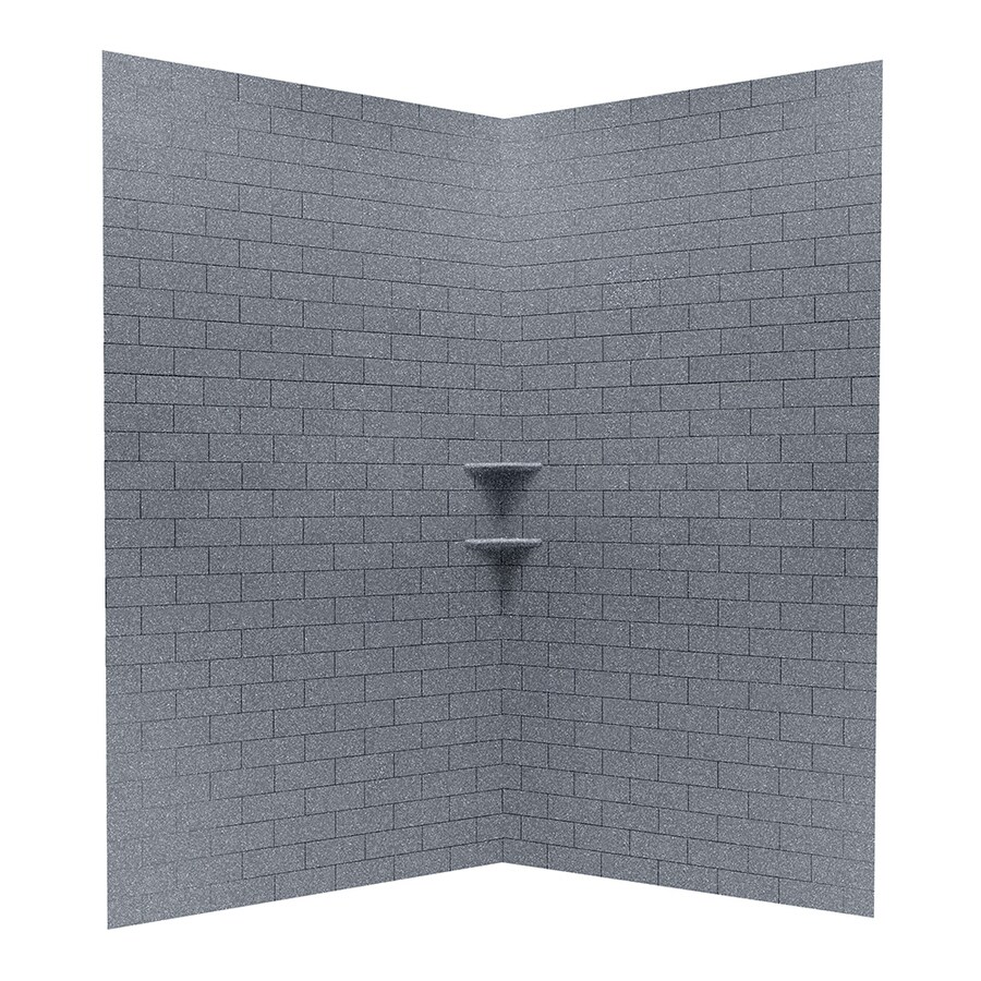 Solid Surface Wall Cladding : Shop swanstone night sky solid surface shower wall