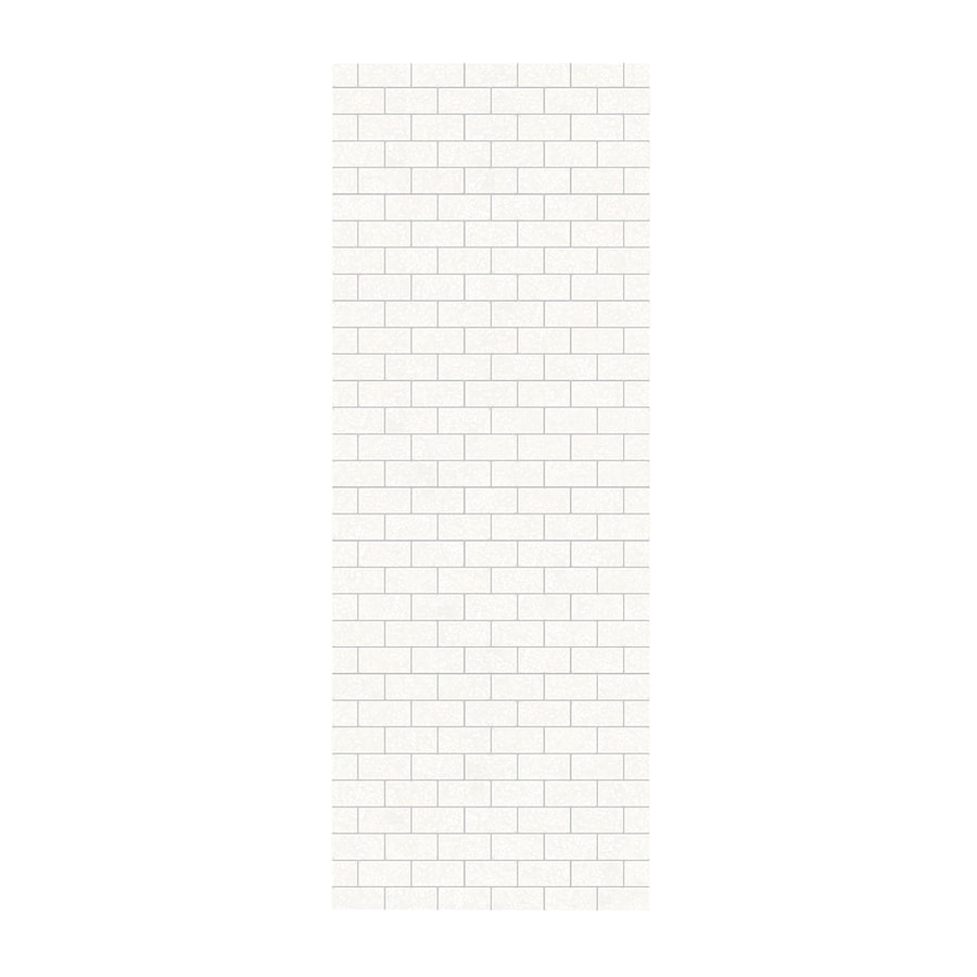 Swanstone Tahiti White Shower Wall Surround Side Panel (Common: 0.25-in; Actual: 96-in x 0.25-in)