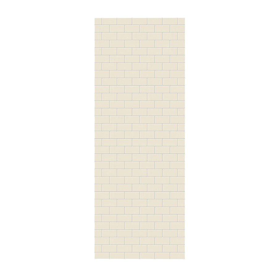 Swanstone Bone Shower Wall Surround Side Panel (Common: 0.25-in; Actual: 96-in x 0.25-in)