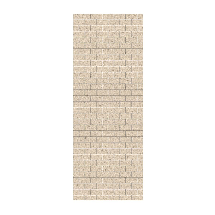 Swanstone Bermuda Sand Shower Wall Surround Side Panel (Common: 0.25-in; Actual: 96-in x 0.25-in)
