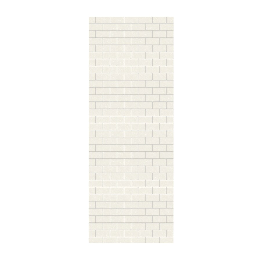 Swanstone Tahiti Ivory Shower Wall Surround Side Panel (Common: 0.25-in; Actual: 96-in x 0.25-in)