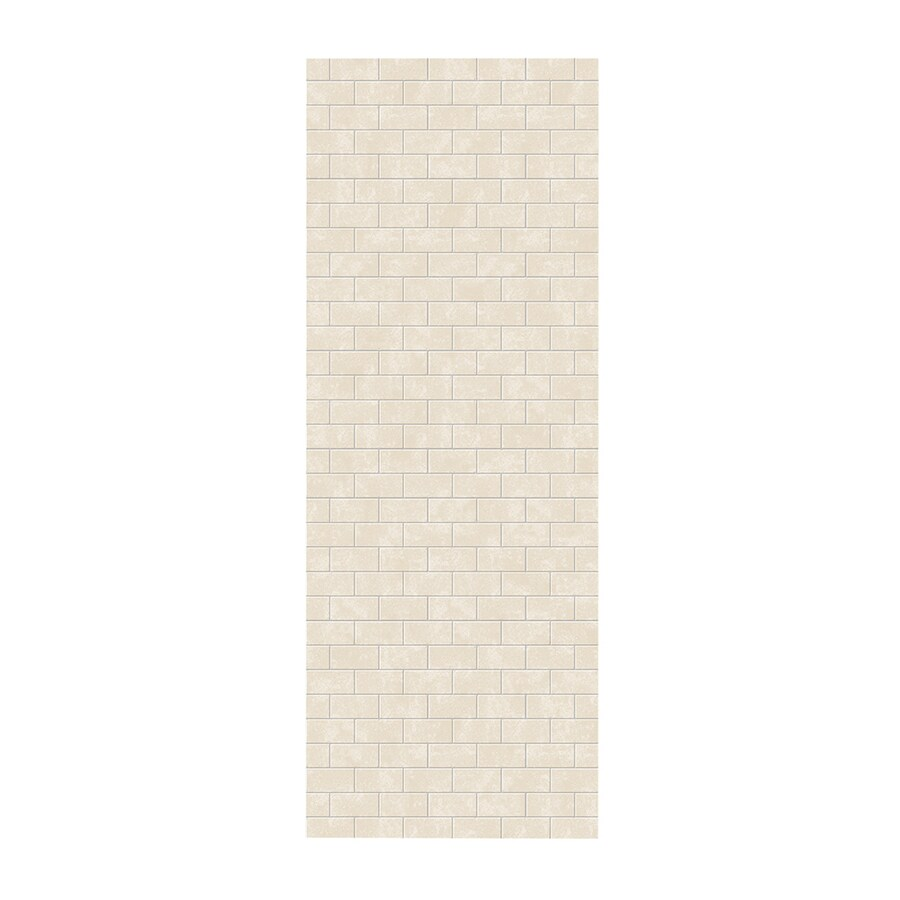 Swanstone Cloud Bone Shower Wall Surround Side Panel (Common: 0.25-in; Actual: 96-in x 0.25-in)