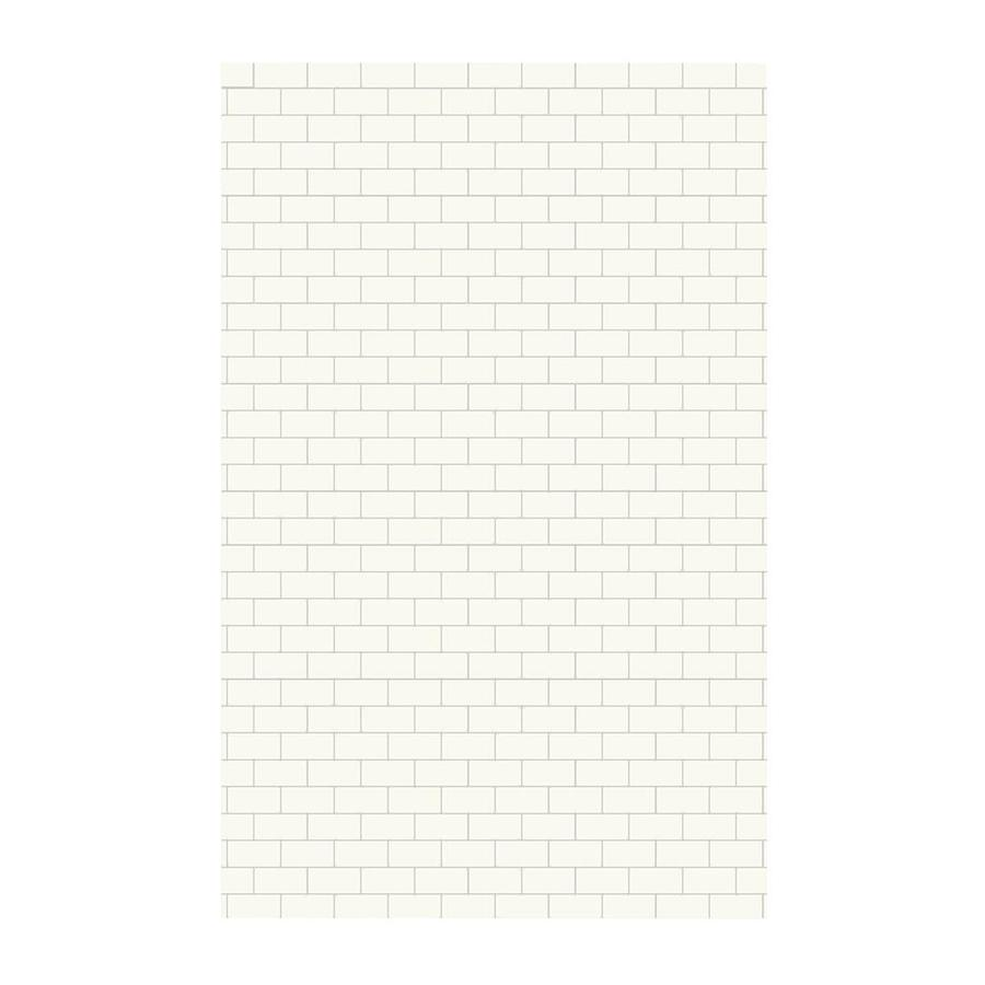 Swanstone White Shower Wall Surround Side Panel (Common: 0.25-in; Actual: 96-in x 0.25-in)