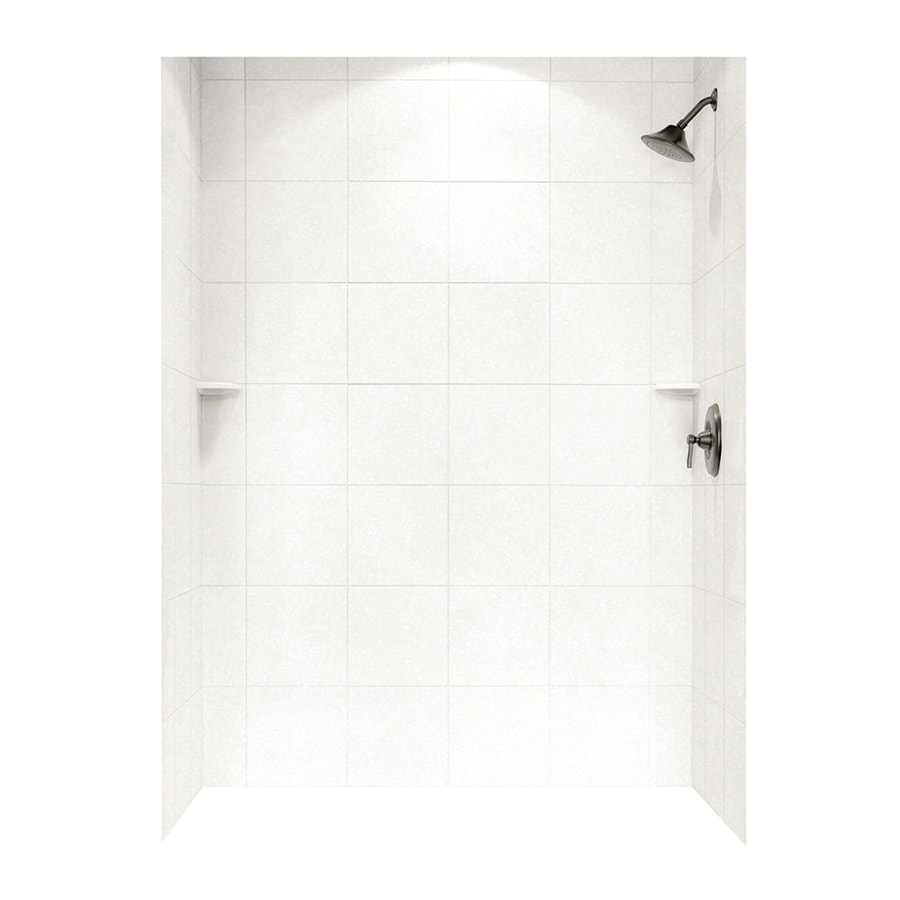 Swanstone Tahiti White Shower Wall Surround Side and Back Panels (Common: 62-in; Actual: 72.5-in x 62-in)