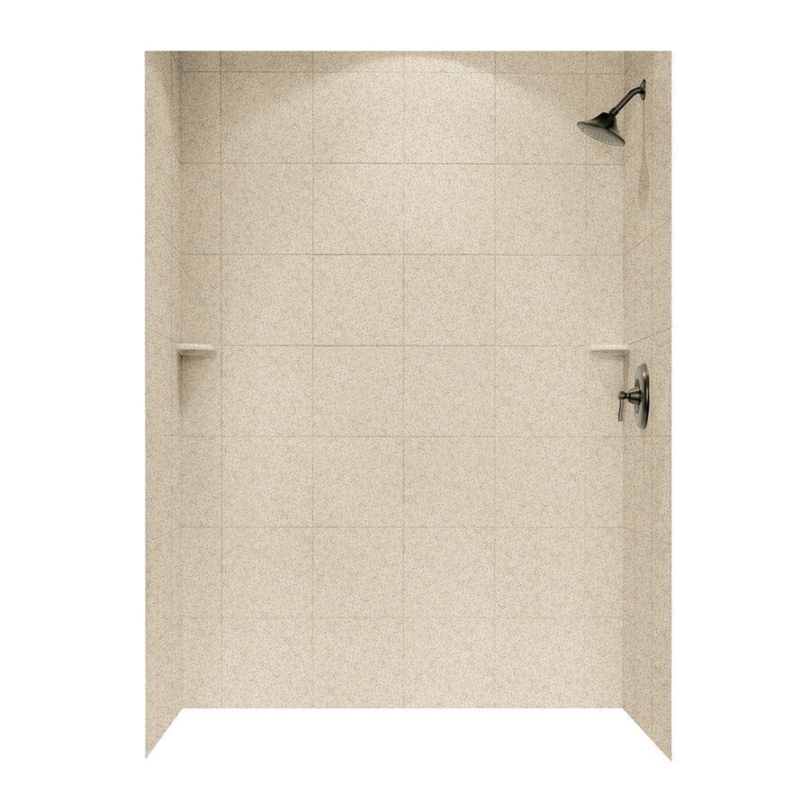 Swanstone Bermuda Sand Shower Wall Surround Side and Back Panels (Common: 62-in; Actual: 72.5-in x 62-in)