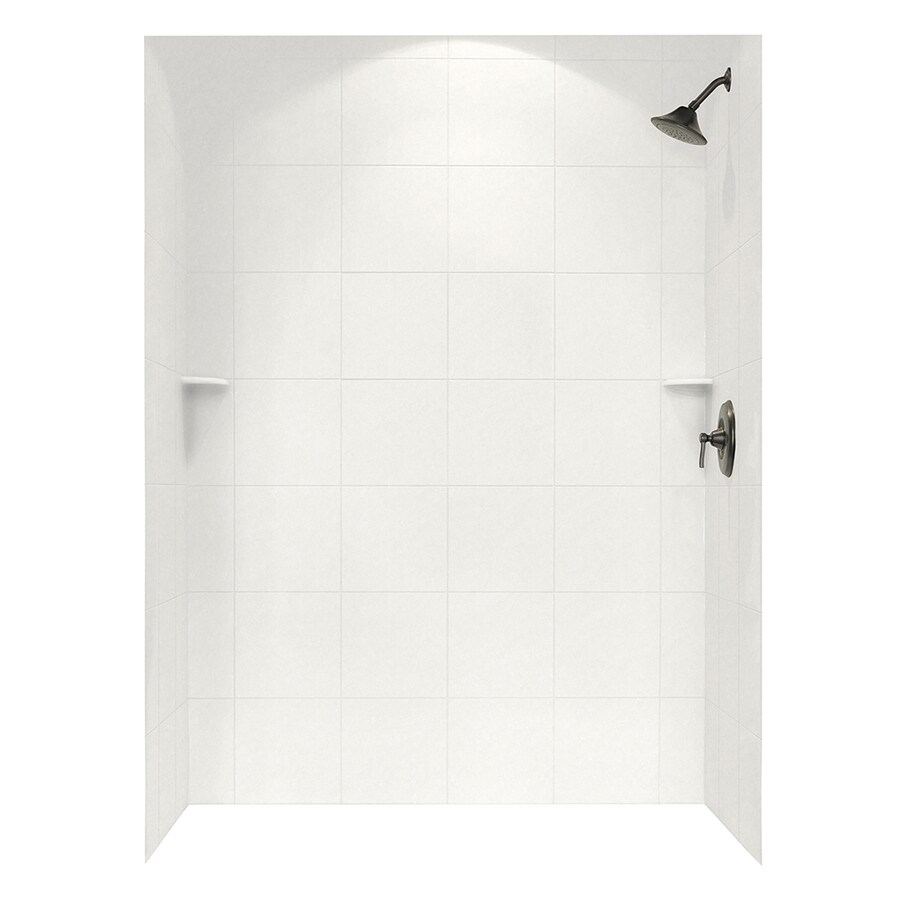 Swanstone Glacier Shower Wall Surround Side and Back Panels (Common: 62-in; Actual: 72.5-in x 62-in)