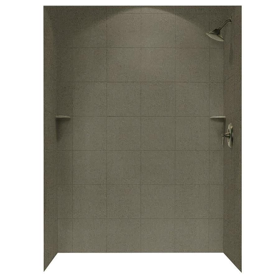 shop swanstone canyon solid surface shower wall surround
