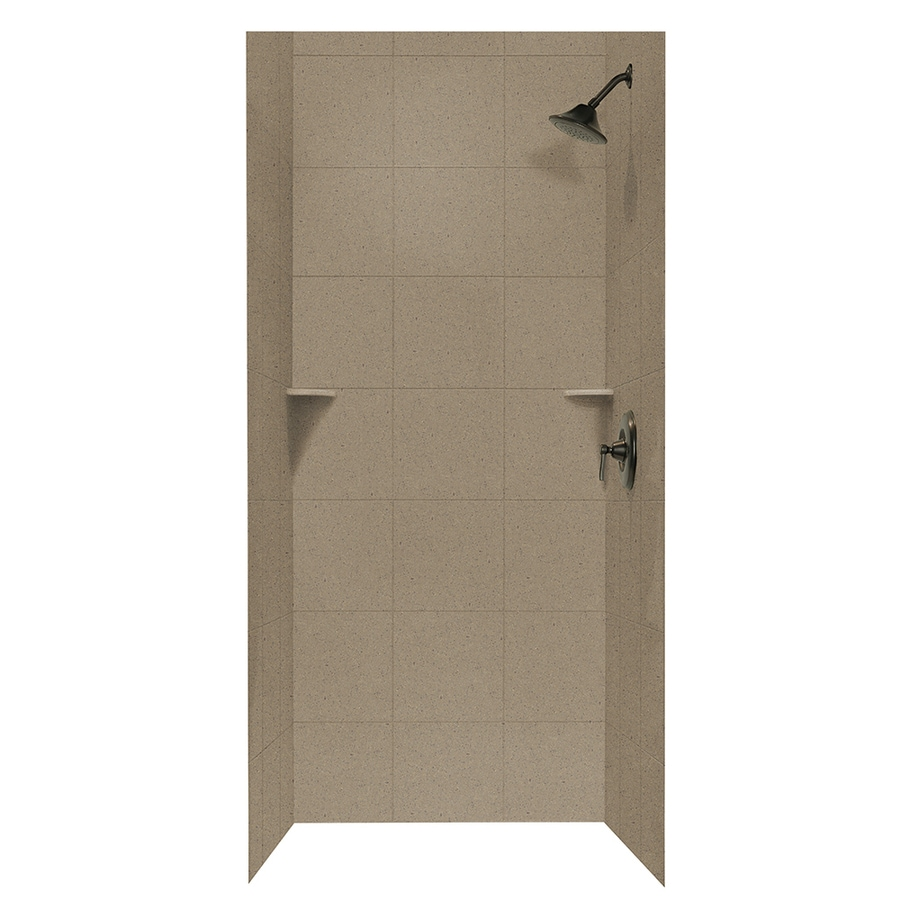 Swanstone Barley Shower Wall Surround Side and Back Panels (Common: 36-in; Actual: 72.5-in x 36-in)