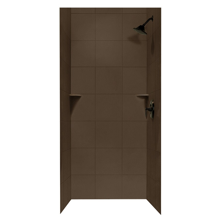 shop swanstone acorn shower wall surround side and back
