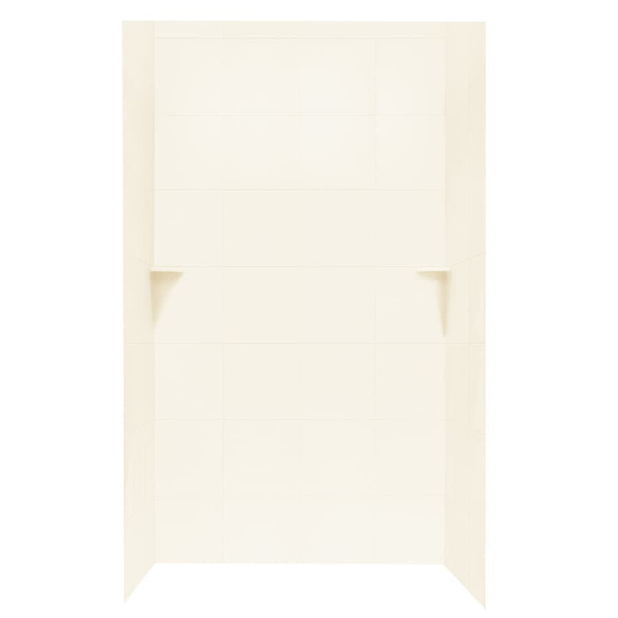 Swanstone White Shower Wall Surround Side and Back Panels (Common: 48-in; Actual: 72.5-in x 48-in)