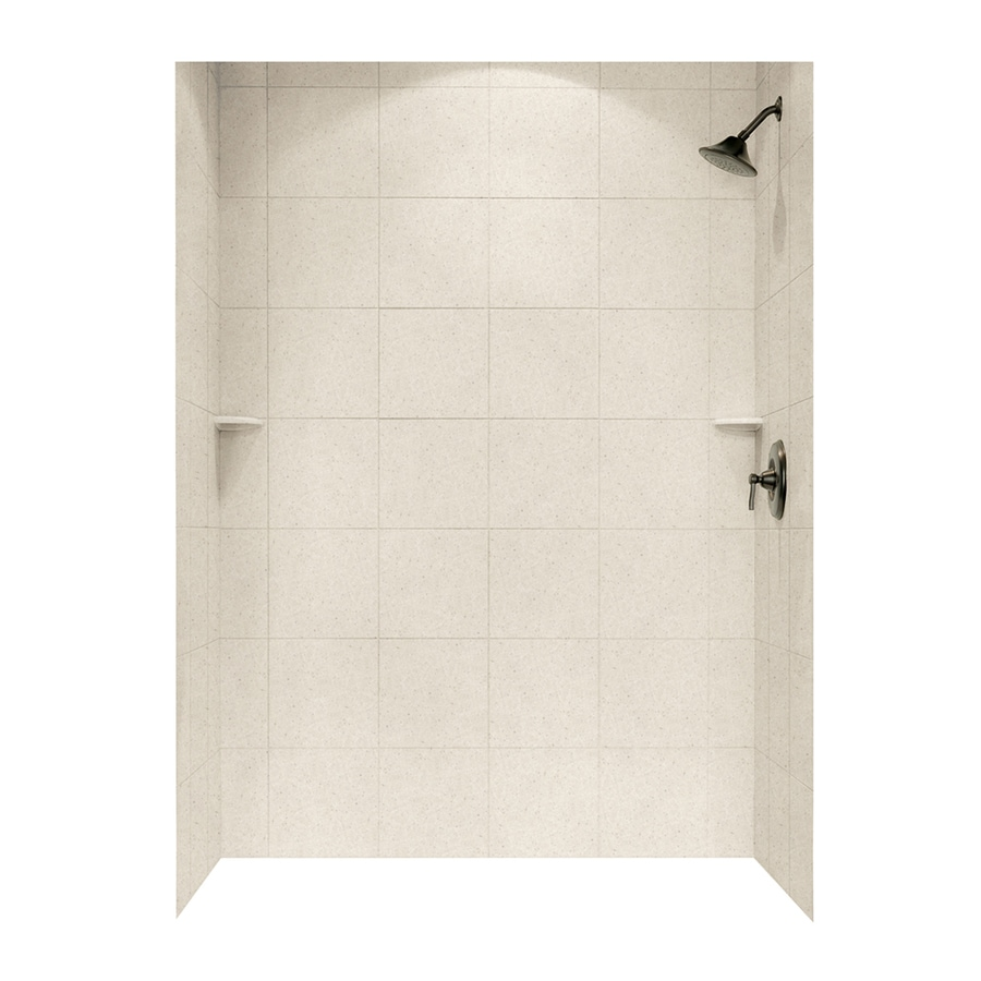 Swanstone Tahiti Sand Shower Wall Surround Side and Back Panels (Common: 62-in; Actual: 96-in x 62-in)