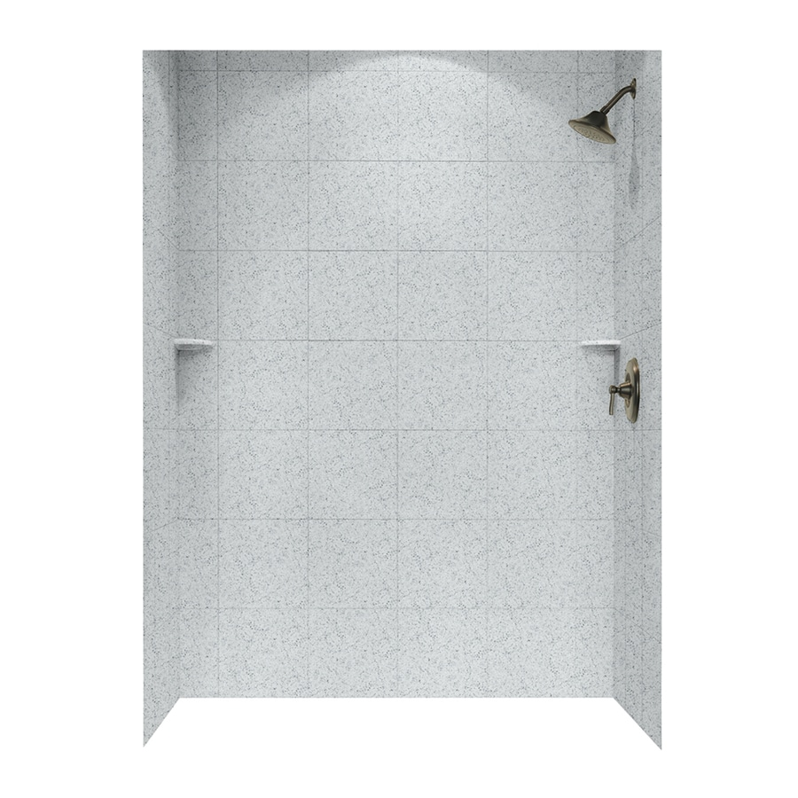 Swanstone Tahiti Gray Shower Wall Surround Side and Back Panels (Common: 62-in; Actual: 96-in x 62-in)