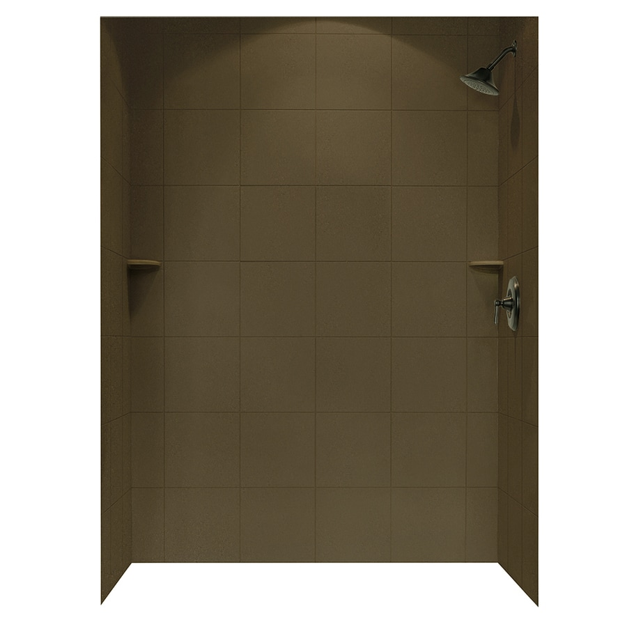 shop swanstone acorn solid surface shower wall surround side and back panels common 62 in x 36. Black Bedroom Furniture Sets. Home Design Ideas