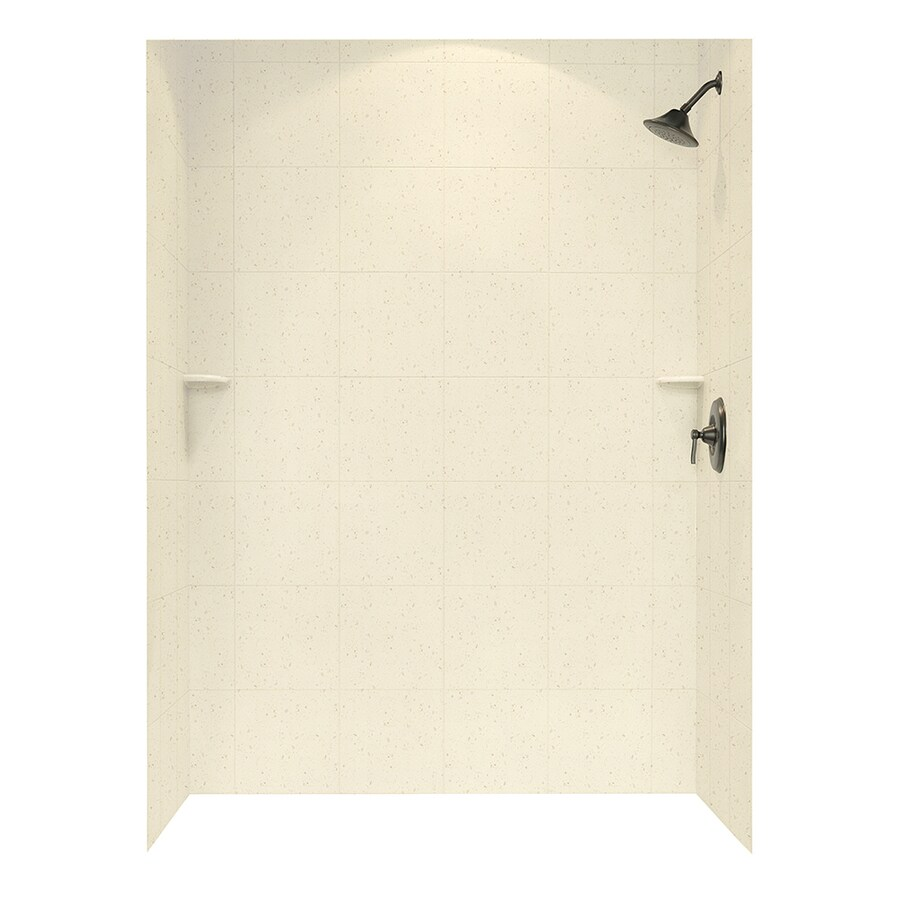 Swanstone Caraway Seed Shower Wall Surround Side and Back Panels (Common: 62-in; Actual: 96-in x 62-in)