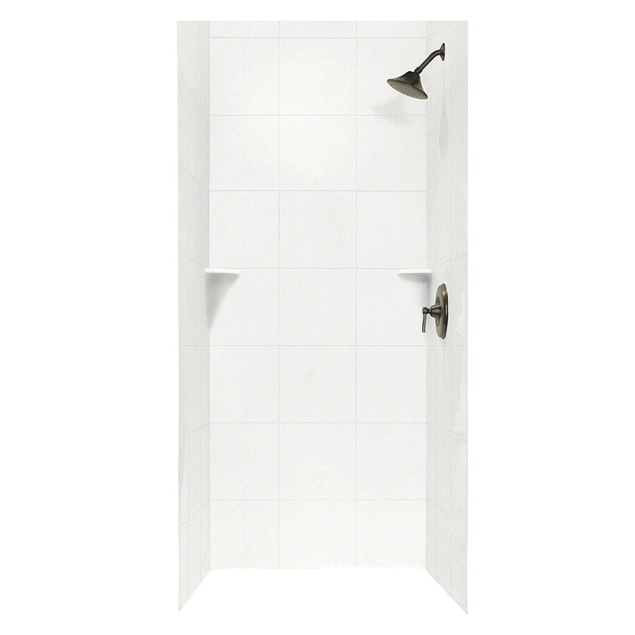 Swanstone Tahiti White Shower Wall Surround Side and Back Panels (Common: 36-in; Actual: 96-in x 36-in)