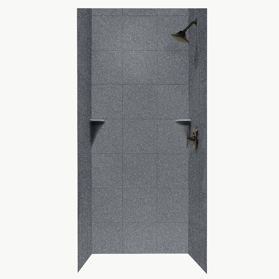 Swanstone Night Sky Shower Wall Surround Side and Back Panels (Common: 36-in; Actual: 96-in x 36-in)