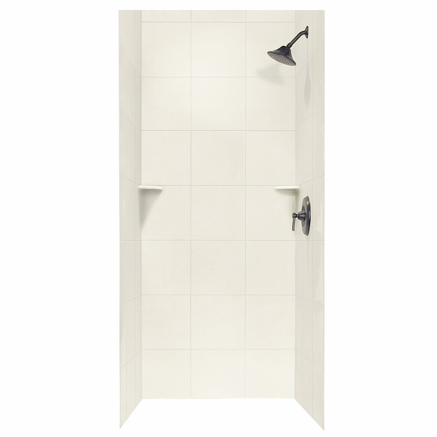 Swanstone Bisque Shower Wall Surround Side and Back Panels (Common: 36-in; Actual: 96-in x 36-in)