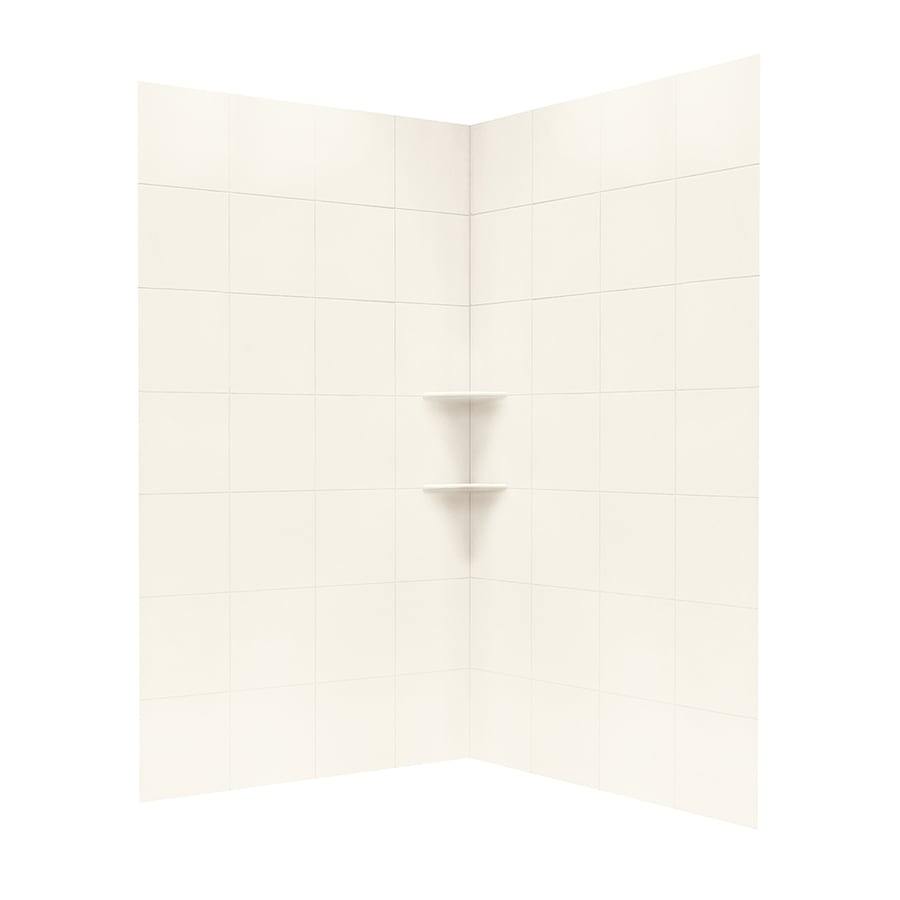 Swanstone White Shower Wall Surround Corner Wall Panel (Common: 48-in; Actual: 96-in x 48-in)