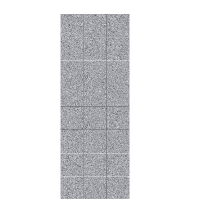 Swanstone Gray Granite Shower Wall Surround Side Panel (Common: 0.25-in; Actual: 96-in x 0.25-in)