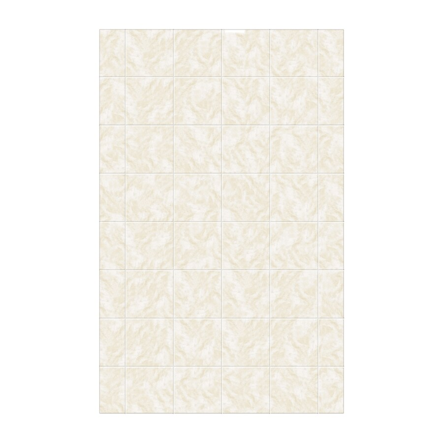 Swanstone Cloud White Shower Wall Surround Side Panel (Common: 0.25-in; Actual: 96-in x 0.25-in)
