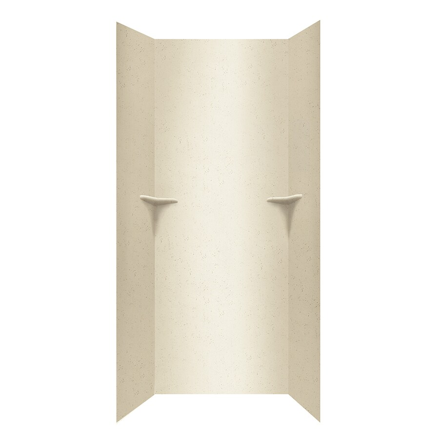 Swanstone Crystal Cream Shower Wall Surround Side and Back Panels (Common: 36-in; Actual: 96-in x 36-in)