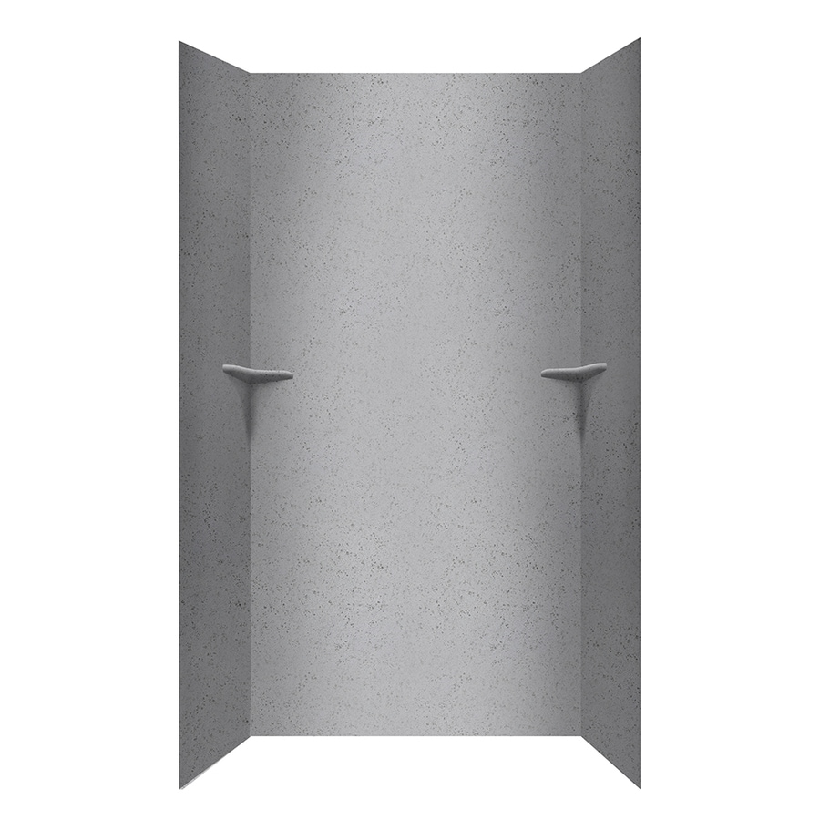 Swanstone Gray Glass Shower Wall Surround Side and Back Panels (Common: 48-in; Actual: 96-in x 48-in)