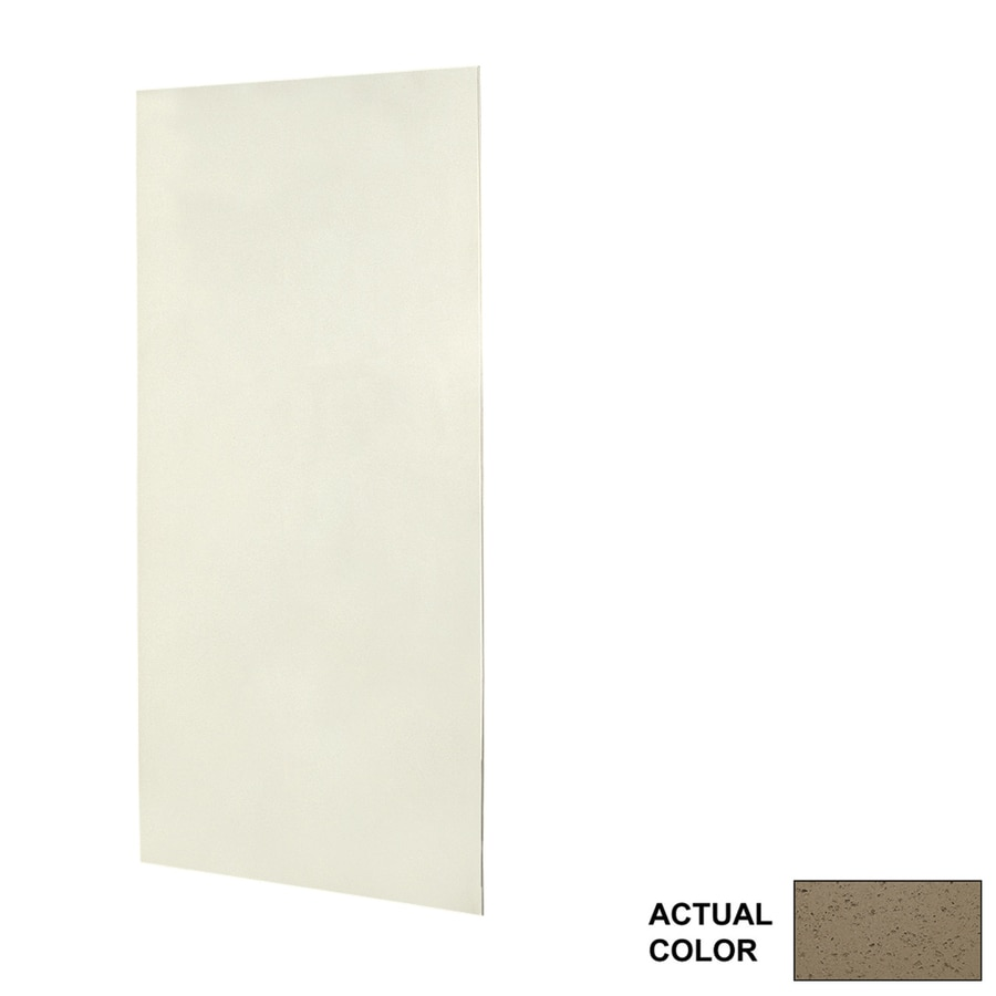Swanstone Caramel Glass Shower Wall Surround Side Panel (Common: 0.25-in; Actual: 72-in x 0.25-in)