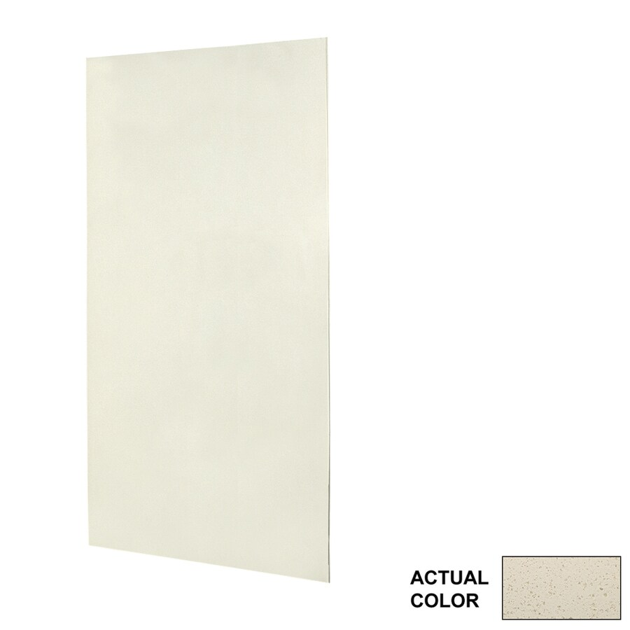 Swanstone Ivory Glass Shower Wall Surround Side Panel (Common: 0.25-in; Actual: 96-in x 0.25-in)