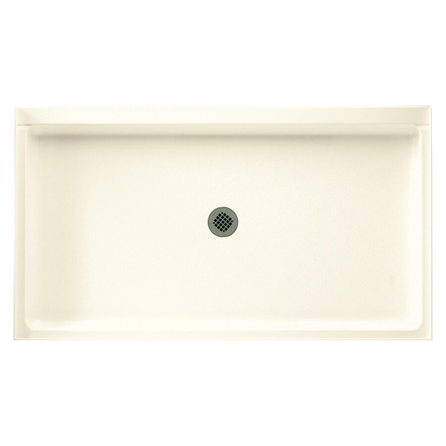 Swanstone Pearl Fiberglass and Plastic Shower Base (Common: 34-in W x 60-in L; Actual: 34.1875-in W x 60.375-in L)