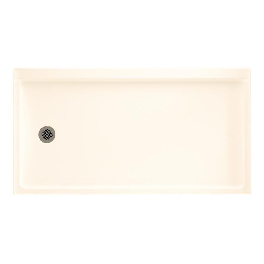 Swanstone Pearl Fiberglass and Plastic Shower Base (Common: 32-in W x 60-in L; Actual: 32.1875-in W x 60.375-in L)
