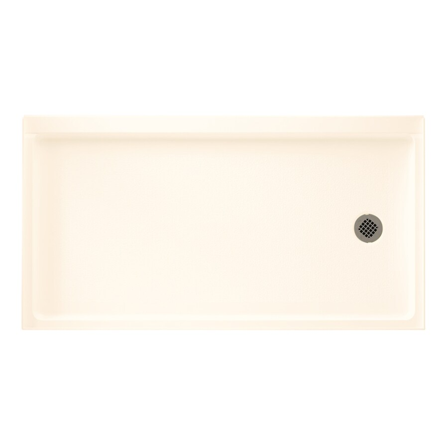 Swanstone Pearl Fiberglass and Plastic Shower Base (Common: 32-in W x 60-in L; Actual: 32.1875-in W x 60.375-in L)