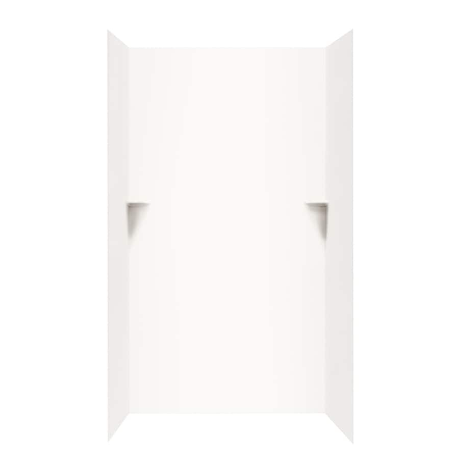 Swanstone Bright White Shower Wall Surround Side and Back Panels (Common: 48-in; Actual: 72-in x 48-in)
