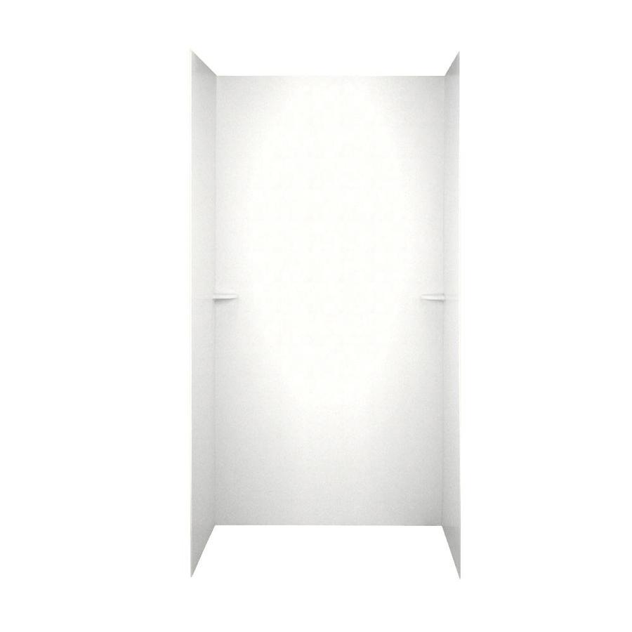 Swanstone Tahiti White Shower Wall Surround Side and Back Panels (Common: 60-in; Actual: 72-in x 60-in)
