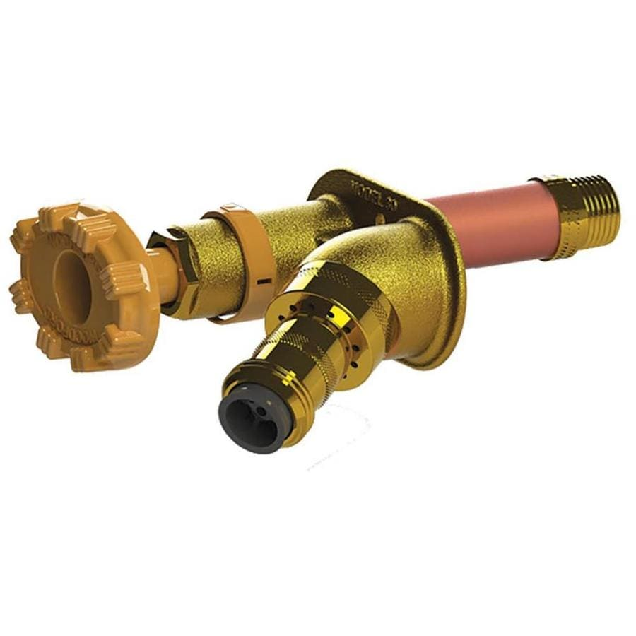 Woodford 6-in L 1/2-in Dual Pattern Brass Frost Proof Sillcock Valve