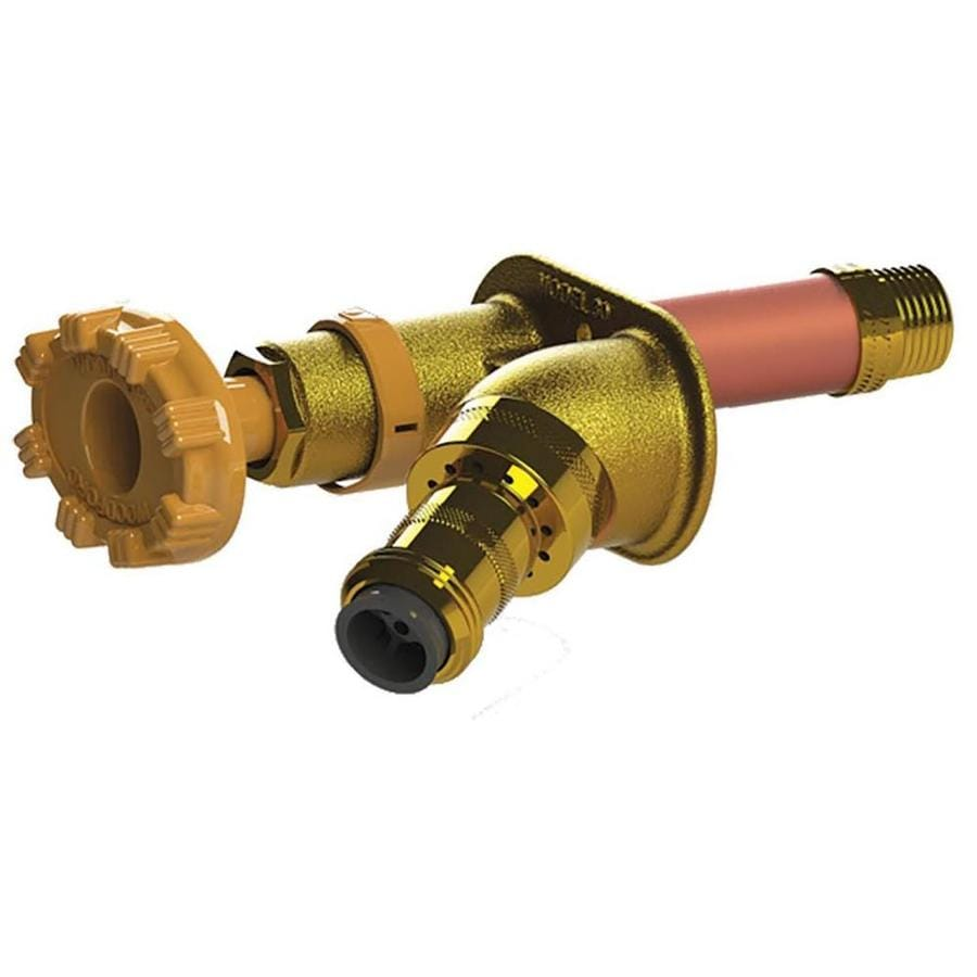 Woodford 10-in L 3/4-in Dual Pattern Brass Frost Proof Sillcock Valve