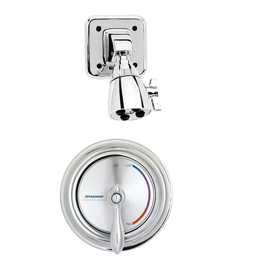 Speakman Sentinel Mark II Regency Polished Chrome 1-Handle Tub and Shower Faucet with Single Function Showerhead