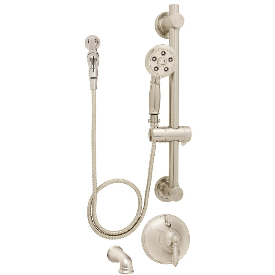 Speakman Alexandria Brushed Nickel 1-Handle Tub and Shower Faucet with Multi-Function Showerhead