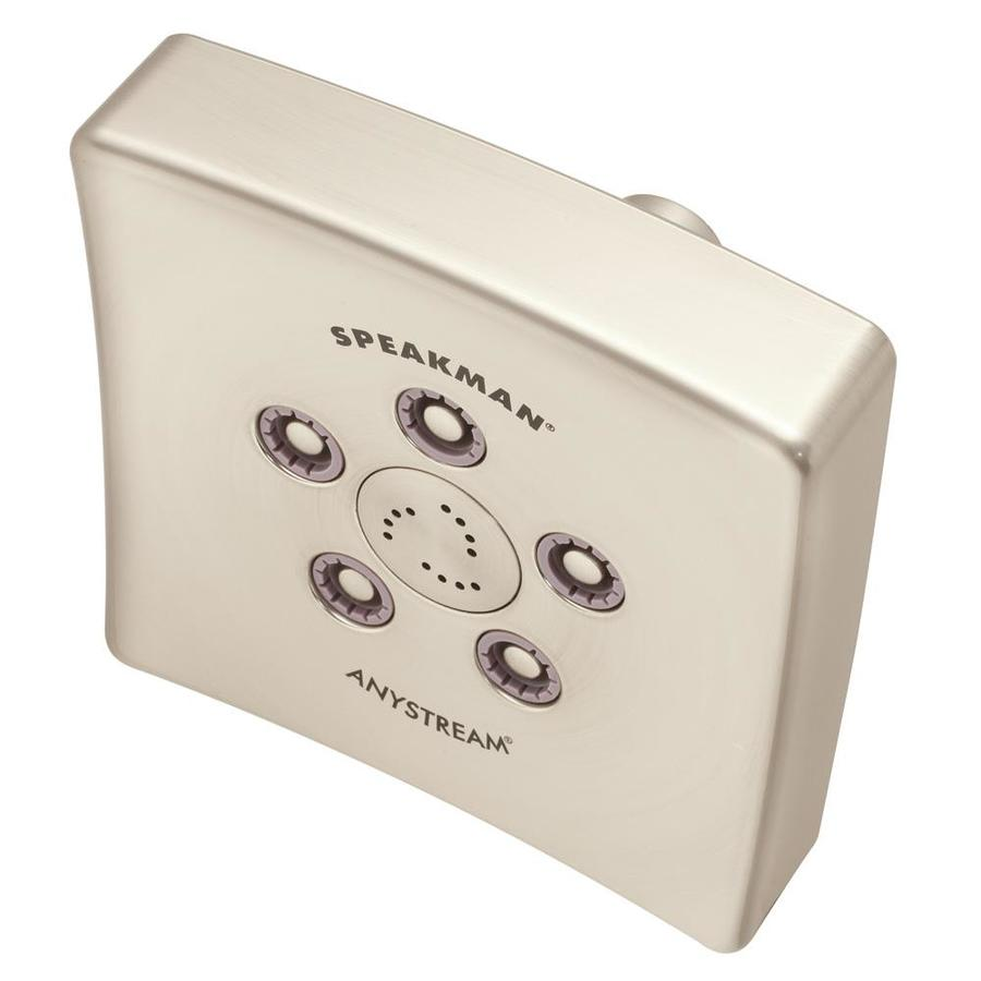 Speakman The Edge 5-in 2.0-GPM (7.6-LPM) Brushed Nickel 3-Spray WaterSense Showerhead