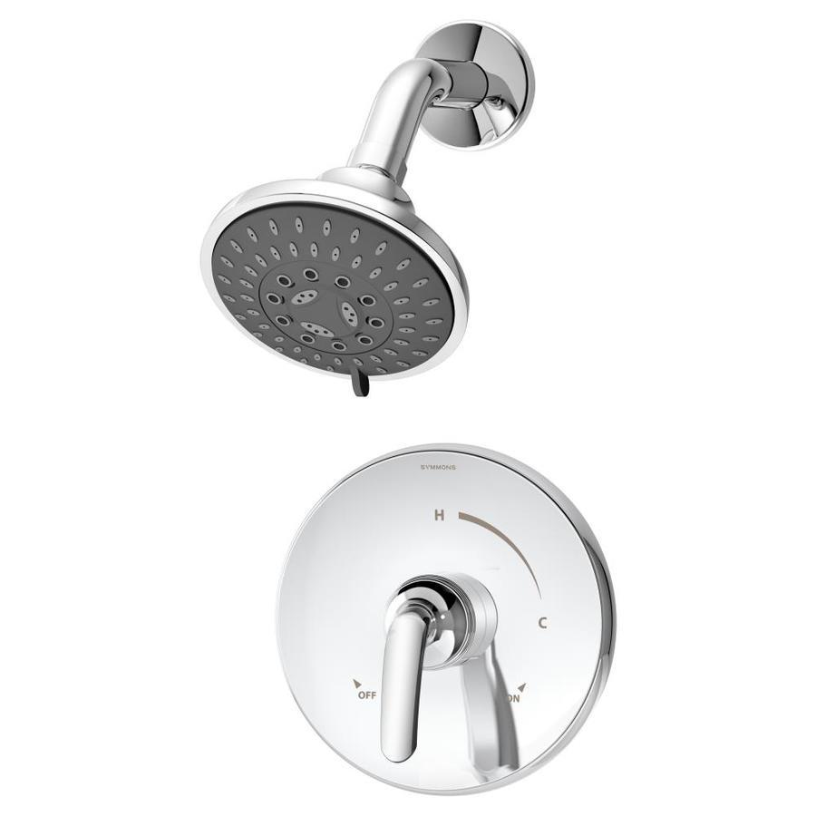 Symmons Elm Chrome 1-Handle Bathtub and Shower Faucet Trim Kit with Multi-Function Showerhead