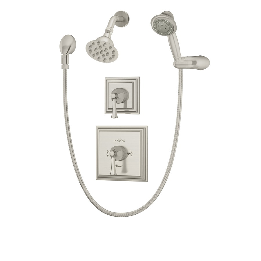 Symmons Canterbury Satin Nickel 2-Handle Shower Faucet with Single Function Showerhead