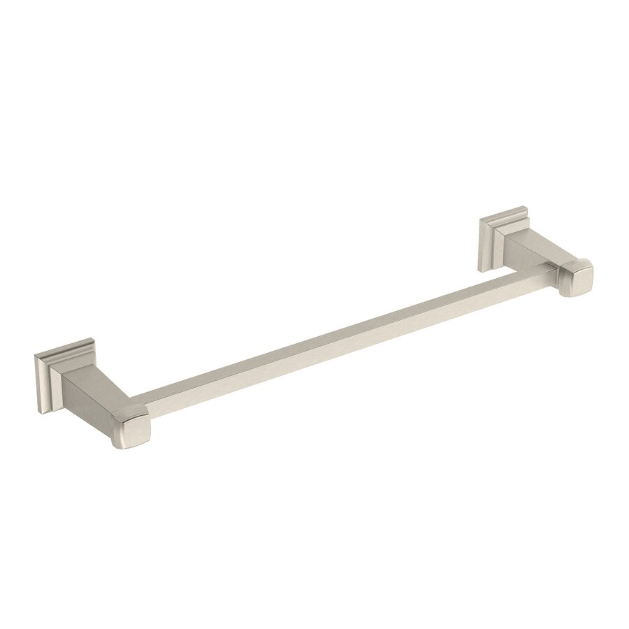 Symmons Oxford Satin Nickel Single Towel Bar (Common: 24-in; Actual: 28.25-in)