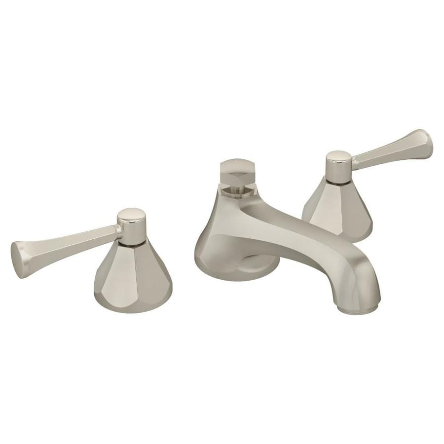 Symmons Canterbury Satin Nickel 2-Handle Widespread WaterSense Bathroom Faucet (Drain Included)
