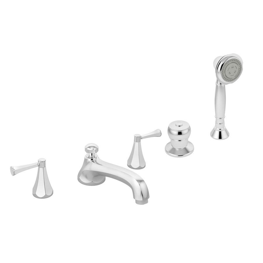 Symmons Canterbury Polished Chrome 2-Handle Adjustable Deck Mount Tub Faucet