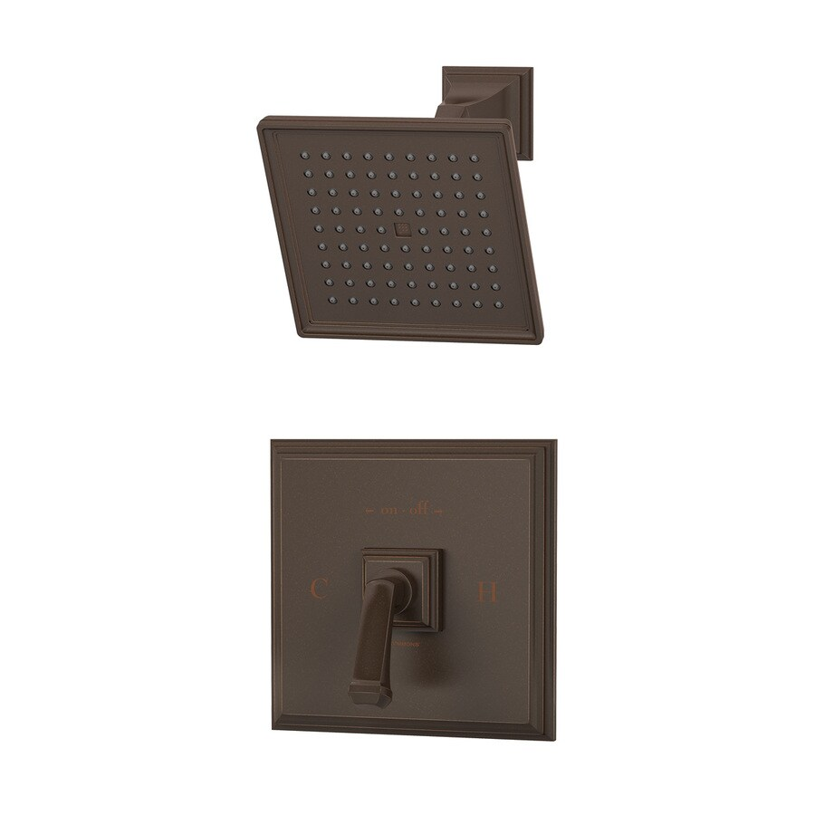 Symmons Oxford Oil-Rubbed Bronze 1-Handle Shower Faucet with Single Function Showerhead